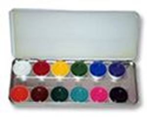 Picture of Kryolan Aquacolor Palette 12 colours RB1