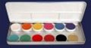 Picture of Kryolan Aquacolor Palette 12 cols D & D (FP)