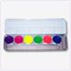Picture of Kryolan Aquacolor Palette Dayglow - 6 colours