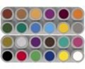 "Picture of Grimas Waterbased D"" Palette 24 Standard Colours"""