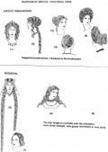 Picture of Ancient Greek/Roman and Mediaeval Wigs - Sketches