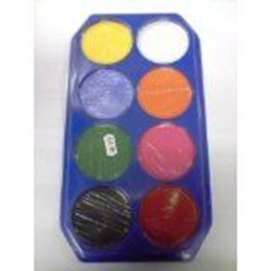 Picture of Snazaroo Waterbased Make-Up Palette 8 Standard Colours