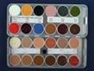 Picture of Kryolan Rubber Mask Grease 24 colour palette