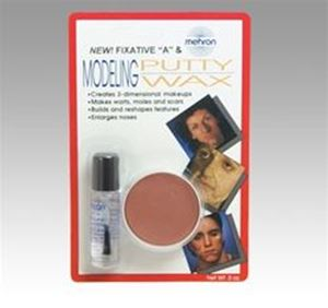 Picture of Mehron Modelling Putty/Wax with Fixative (carded)