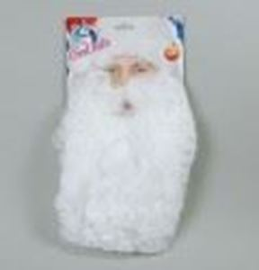 """Picture of 11 Nylon Father Christmas Beard - MB035"""""""