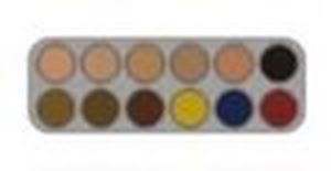 Picture of Grimas Camouflage Make-Up Palette CB - 12 Cols