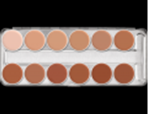 Picture of Kryolan Supracolor Palette 12 colours TV 1W-12W