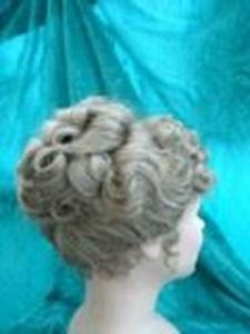 Picture of Edwardian Curly Wig - Side View