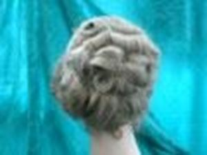 Picture of Edwardian Curly Wig - Back View