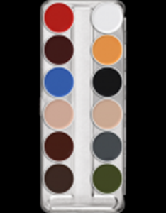 Picture of Sp. Offer Kryolan Supracolor Palette 12 cols 'B'