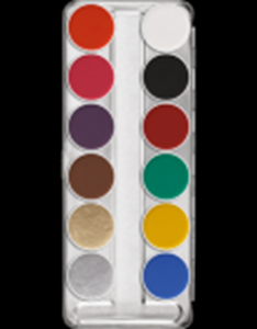 Picture of Kryolan Aquacolor Palette 12 Cols - SN