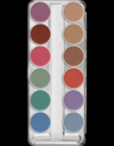 Picture of Kryolan Aquacolor Palette 12 Cols - P