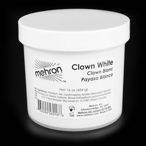 Picture of Mehron Clown White - 16 ozs (454g)