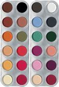 Picture of Grimas Eyeshadow/Rouge 24 Colour Palette - FK1 & FK2