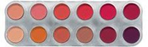 Picture of Grimas Eyeshadow/Rouge palette 12 cols - RC