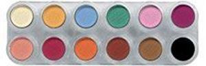 Picture of Grimas Eyeshadow/Rouge palette 12 cols - U