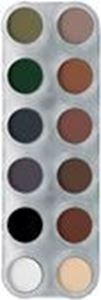 Picture of Grimas Eyeshadow/Rouge palette 12 cols - UX