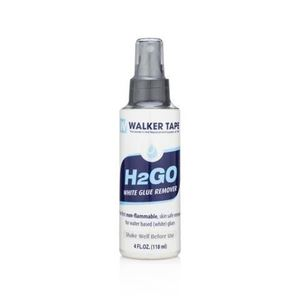 Picture of Walker H 2 Go water-based  adhesive remover  4 oz and 12 oz sizes.
